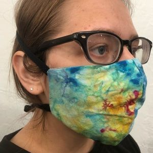 Tie-Dye Recycled 100% Cotton Mask Visibly Sold